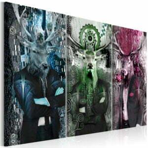 Wandbild - Animal Trio (3 Parts) Colorful