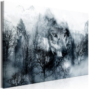 Wandbild - Mountain Predator (1 Part) Wide Black and White
