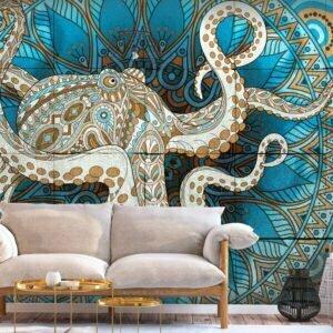 Fototapete - Zen Octopus