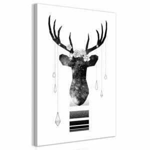 Wandbild - Abstract Antlers (1 Part) Vertical