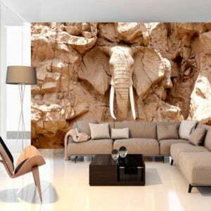 Fototapete - Stone Elephant (South Africa)