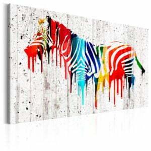 Wandbild - Das bunte Zebra