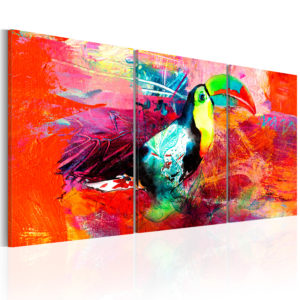 Wandbild - Colourful Toucan