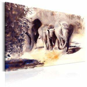 Wandbild - Watercolour Elephants