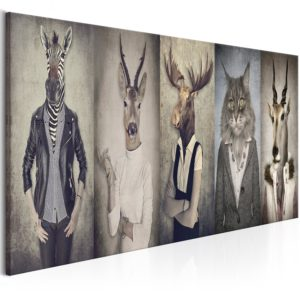 Wandbild - Animal Masks