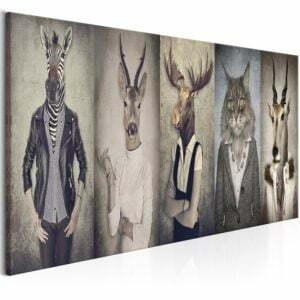 Wandbild - Animal Masks