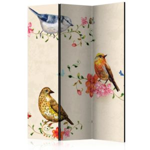 3-teiliges Paravent - Bird Song [Room Dividers]
