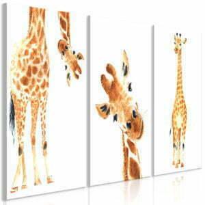 Wandbild - Funny Giraffes (3 Parts)