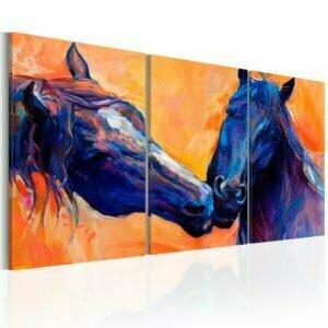 Wandbild - Blue Horses