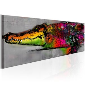 Wandbild - Colourful Alligator
