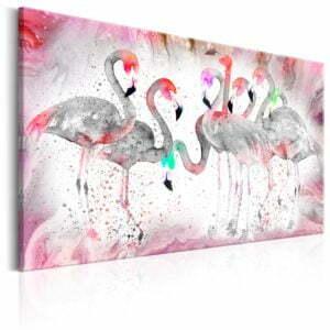 Wandbild - Flamingoes Family