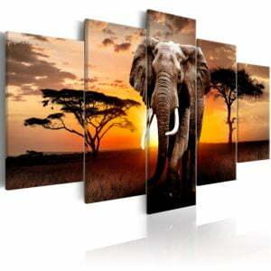 Wandbild - Elephant Migration