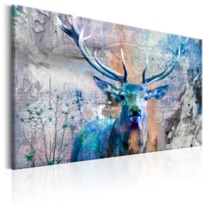 Wandbild - Blue Deer