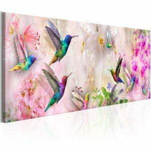 Wandbild - Colourful Hummingbirds (1 Part) Narrow