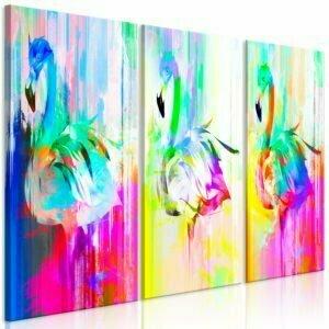 Wandbild - Colourful Flamingos (3 Parts)