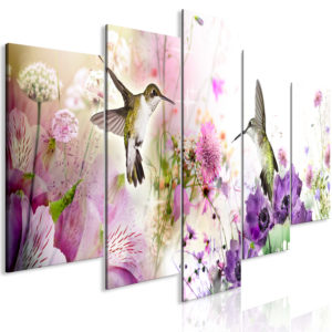 Wandbild - Colourful Nature (5 Parts) Wide