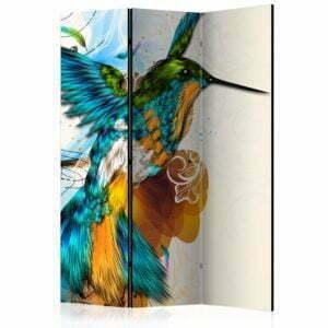 3-teiliges Paravent - Bird's Music [Room Dividers]