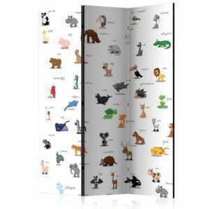 3-teiliges Paravent - animals (for children) [Room Dividers]