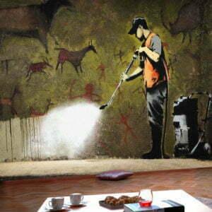 Fototapete - Banksy - Cave Painting