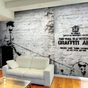 Fototapete - Banksy - Graffiti Area