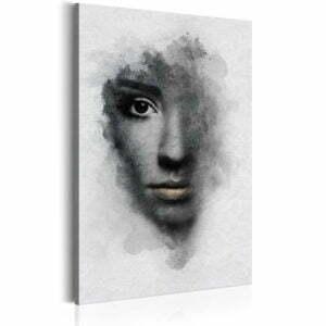 Wandbild - Graues Porträt