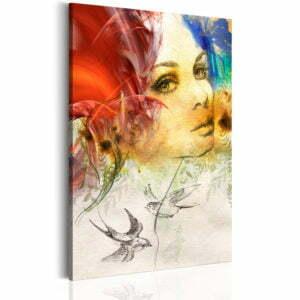 Wandbild - Frauenporträt