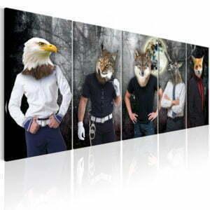 Wandbild - Animal Faces