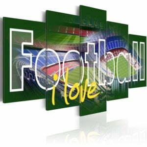Wandbild - I Love Football