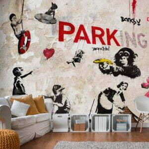 Fototapete - [Banksy] Graffiti Collage