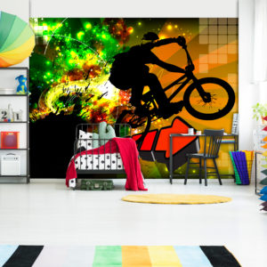 Fototapete - Bicycle Tricks