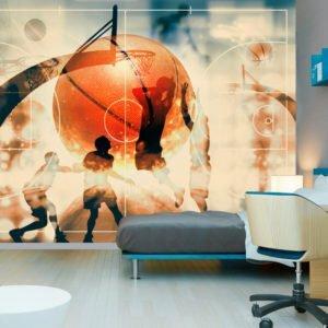 Fototapete - I love basketball!