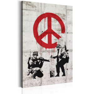 Wandbild -  Soldiers Painting Peace by Banksy