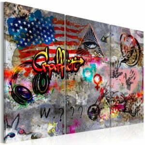 Wandbild - American Graffiti