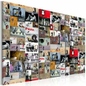 Wandbild - Art of Collage: Banksy III