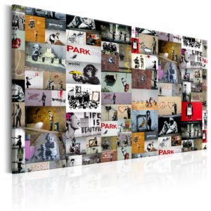 Wandbild - Art of Collage: Banksy