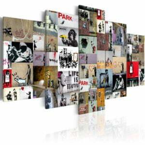 Wandbild - Art of Collage: Banksy IV