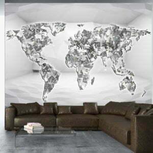 Fototapete - Diamond map