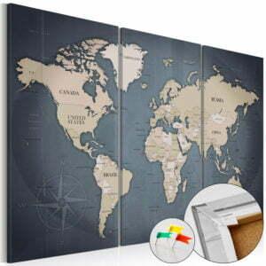 Korkbild - Anthracitic World [Cork Map]