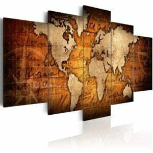 Wandbild - Amber Map