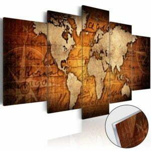 Acrylglasbild - Acrylic prints – Bronze map I