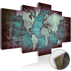 Acrylglasbild - Acrylic prints – Bronze map II