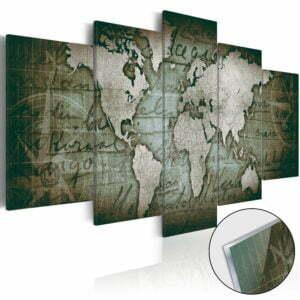 Acrylglasbild - Acrylic prints – Bronze map III