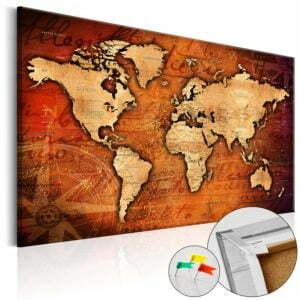Korkbild - Amber World [Cork Map]
