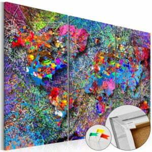 Korkbild - Colourful Whirl [Cork Map]