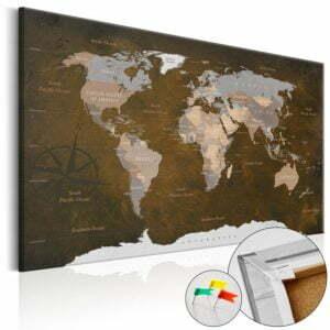 Korkbild - Cinnamon Travels [Cork Map]