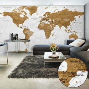 XXL Tapete - World Map: White Oceans II