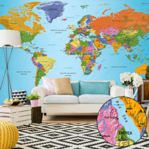 XXL Tapete - World Map: Colourful Geography II