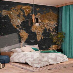 Fototapete - World: Stylish Map