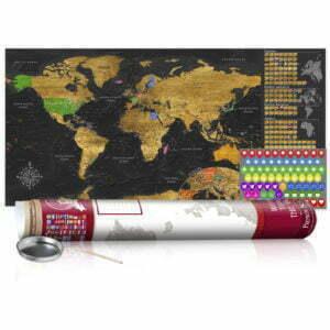 Rubbel Weltkarte - Goldene Weltkarte - Poster (Englische Beschriftung)
