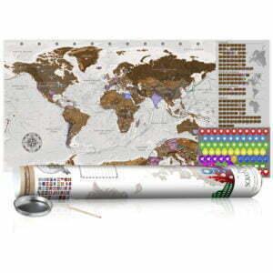 Rubbel Weltkarte - Grau Weltkarte - Poster (Englische Beschriftung)